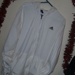 White Adidas Windbreaker Jacket